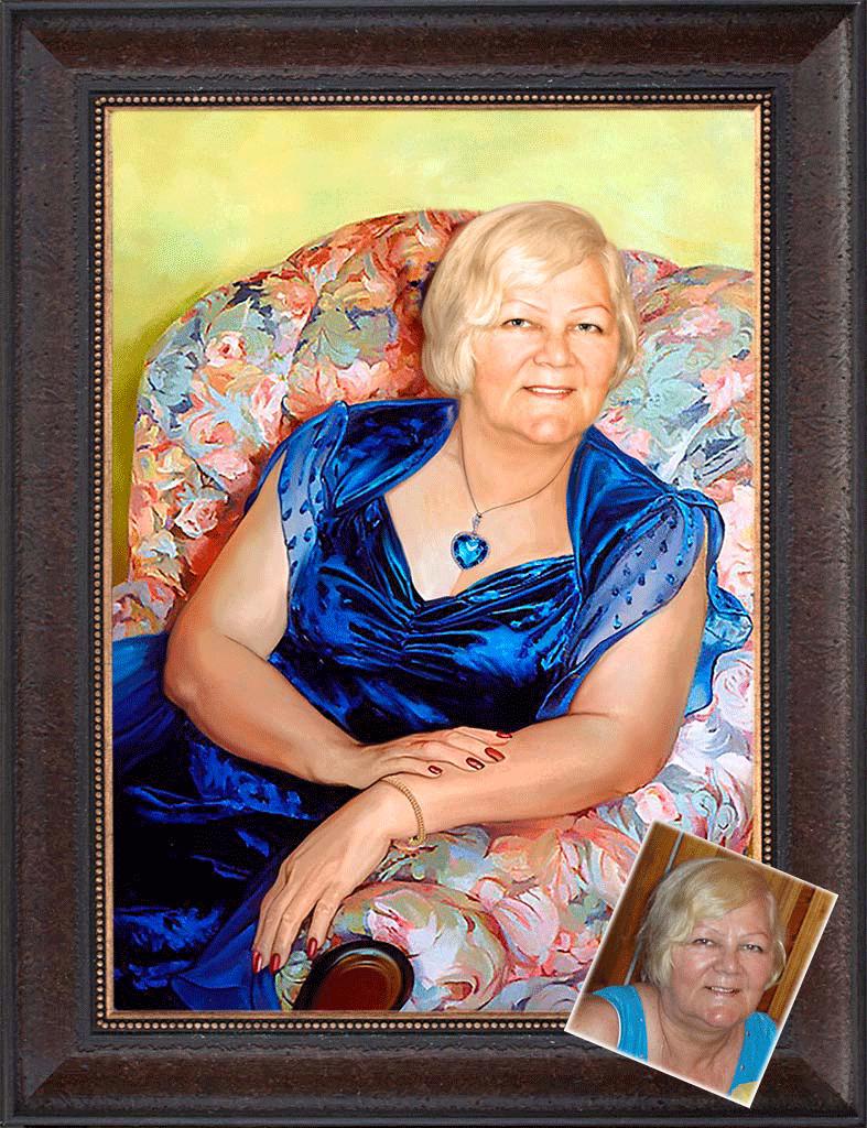 Портрет подарок для нее