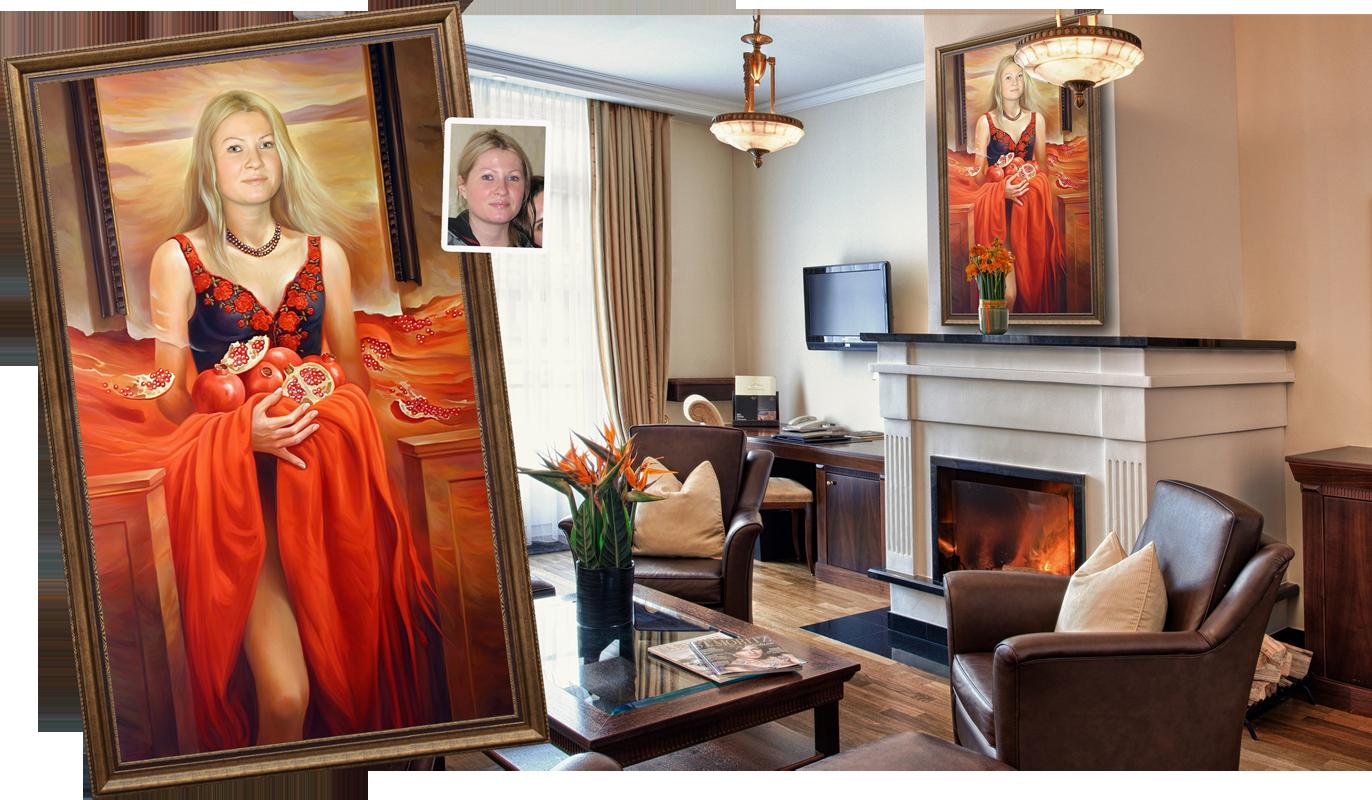 Заказать портрет с фотографии, Портрет на заказ в Люберцах и 28