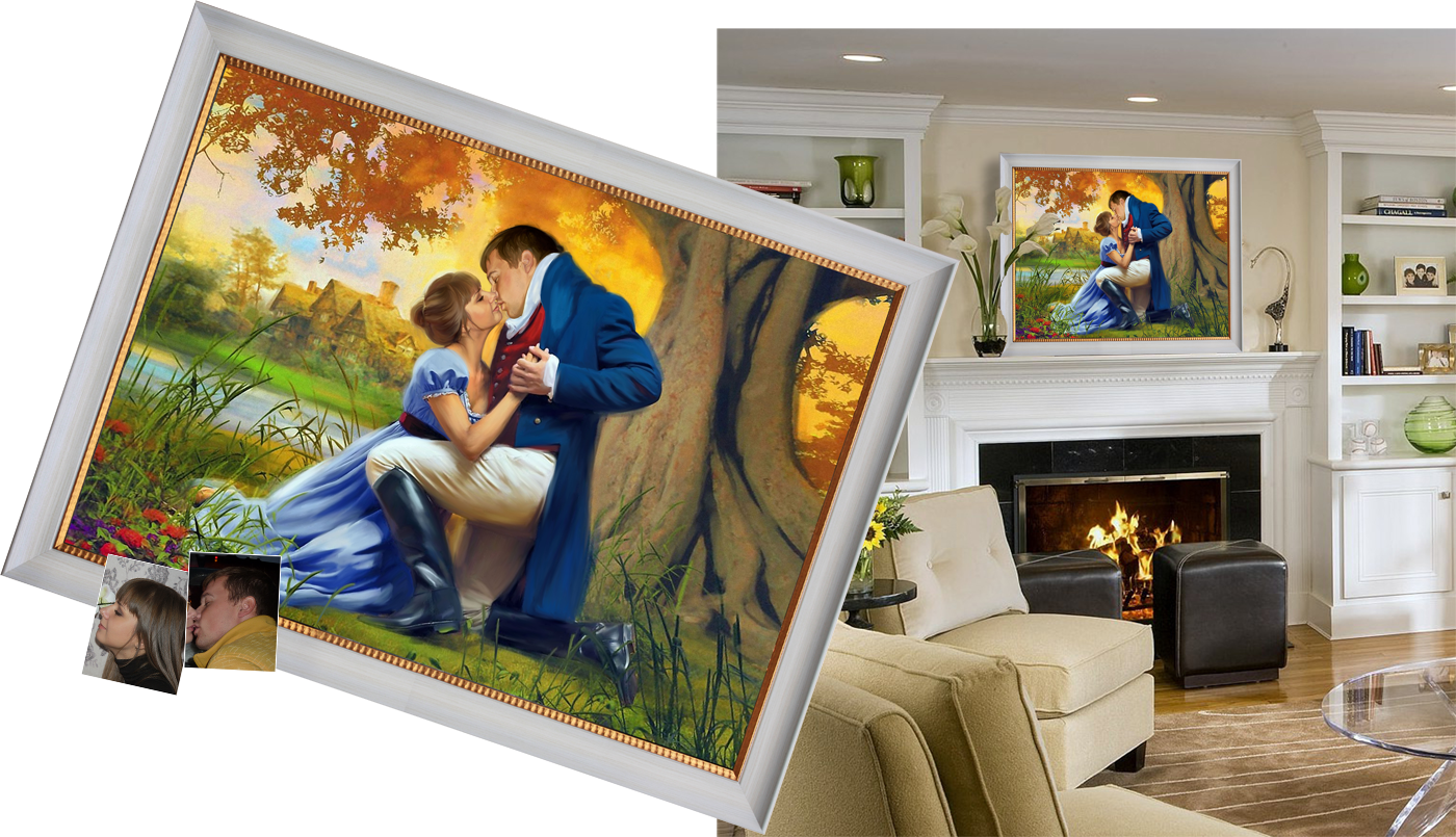 Картина в подарок на свадьбу