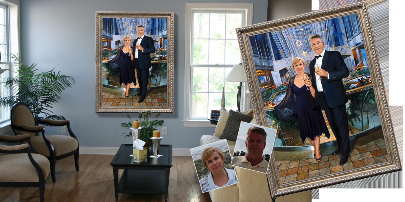 Картина подарок на свадьбу 54