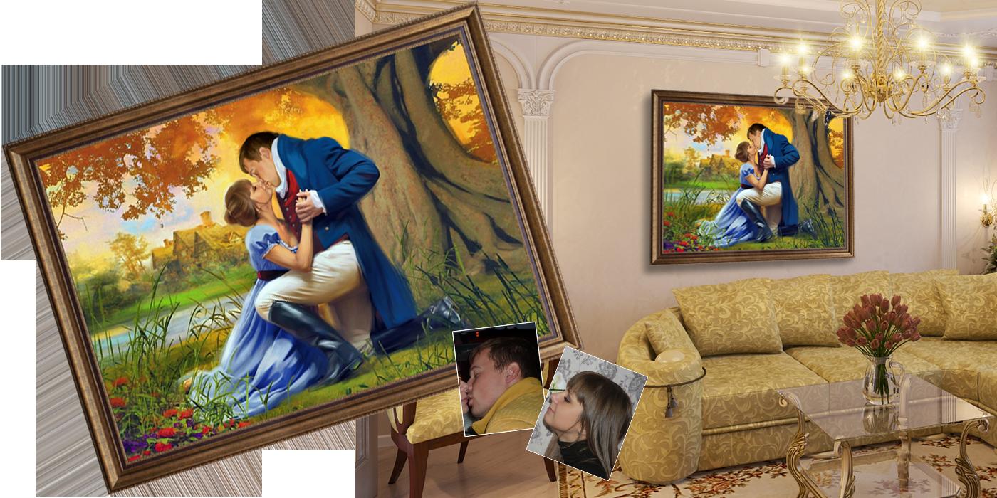 Картина подарок на свадьбу 91