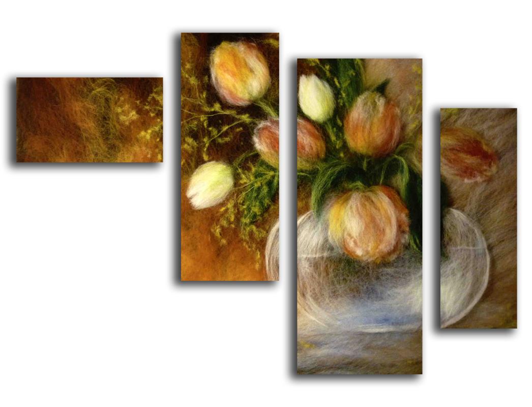 Сегментные картины маслом на заказ.