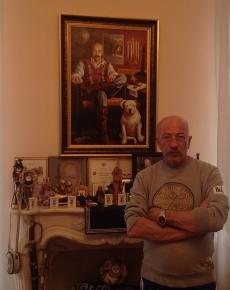 картина с фотографии в подарок А.Розенбауму от радио Шансон на 60 лет