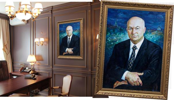 Портрет маслом с фотографии на юбилей