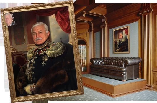 Оригинальный портрет с фотографии. Жекле