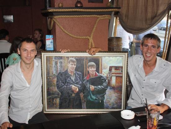 Подарок Алексею Панину и Дмитрию Дюжеву