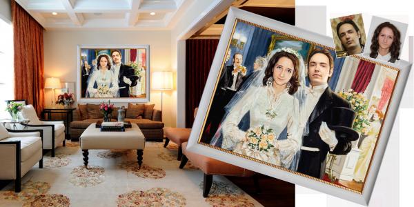 заказать картину на свадьбу