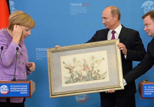 Картина в подарок Ангеле Меркель